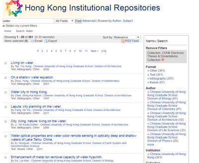 Hong Kong Institutional Repositories (HKIR)